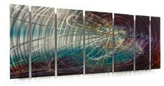 Contemporary Painting on Metal Wall Decor by Artist Ash Carl Wall Sculpture | eBay
