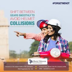 There are times when the pillion rider's helmet may collide with that of the driver's. This can be prevented with a smoother transition #ForgetMeNot