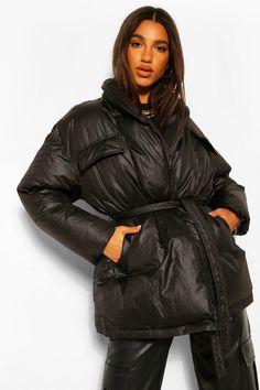 Women's Puffer Coats, Puffer Jackets, Fur Coats, Plastic Raincoat, Faux Fur Collar, Padded Jacket, Rain Wear, Fashion Face Mask, Winter Coat