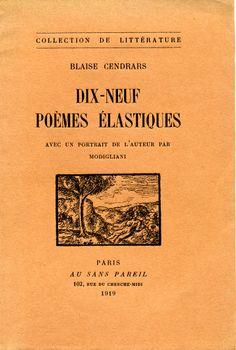 Dix-Neuf poèmes élastiques - Au Sans Pareil - 1919