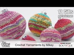 Red Heart has a Spring color blend that would be sooo cute in my living room.  Crochet Christmas Balls Tutorial (+playlist)