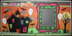 Faith Abigail Designs Miss Kate Cuttables Haunted House, Too Cute to Spook, Flying Witch and Halloween Borders cutting files as well as the Stretch Your Imagination and Happy Hauntings Cricut cartridges.