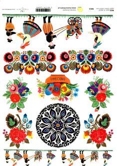 Ryžové papiere-Folklórne motívy | SvetNápadov Decoupage, Playing Cards, Paper, Playing Card Games, Game Cards, Playing Card