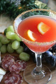 Blood Orange Spiced Rum Fizz