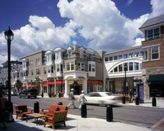 Crocker Park, Westlake, Ohio. A beautiful outdoor shopping venue with many restaurants.
