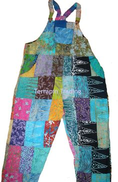 Fair Trade Patchwork Dungarees with Real Patches by Terrapin: fair trade and better pay.