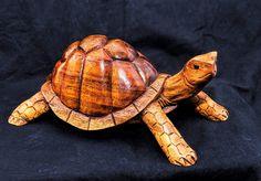Wood Tortoise - Hand carved