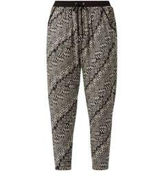 New Look - Black Aztec Print Hareem Trousers