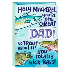 Holy Mackerel Fishing Funny Birthday Card for Dad – Birthday 2020 Diy Birthday Cards For Dad, Birthday Card Sayings, Homemade Birthday Cards, Birthday Cards For Boyfriend, Funny Birthday Cards, Friend Birthday Card, Homemade Cards, Birthday Him, Cards For Dads
