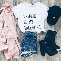 Trendy clothes style for teens casual shirts 36 Ideas Teen Fashion Outfits, Outfits For Teens, Girl Outfits, Womens Fashion, Pink Fashion, Fashion Beauty, Dress Fashion, Fashion Clothes, Latest Fashion