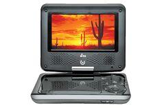 """DVD PORTÁTIL PDY11      Pantalla giratoria     LCD 7"""" (17.8 cm)     Entrada USB     Entrada SD     Sinonizador de TV  Incluye  antena para televisión audífonos tipo DJ"""