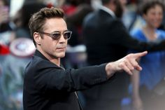 "Cast member Downey Jr.  poses at the european premiere of ""Avengers: Age of Ultron"" at Westfield shopping centre, Shepherds Bush, London"