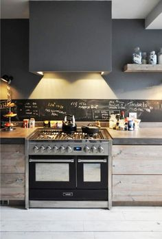 Use chalk paint as a backsplash in the kitchen to help with recipes!