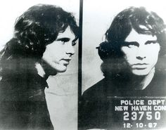 Jim Morrison (1967): Four years later, a shaggier Morrison was arrested for indecent and immoral exhibition charges in New Haven, Connecticut.