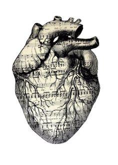 The music of my heart #art #design #heart #music