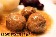 Le coin recettes de Jos: RAGOÛT DE BOULETTES À LA MIJOTEUSE Slow Cooking, Meat Recipes, Cooking Recipes, Recipies, Canadian Food, Canadian Recipes, Ground Beef Recipes, Quebec, Stew