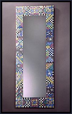 Do it yourself santa theresa tile works stained glass and iridescent wall mosaic mirror by new world tile design solutioingenieria Image collections