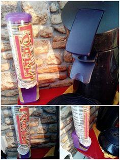 Distributeur de café dosettes , rapide à faire , et customisable .( distributeur de coton démaquillant revisité ) DIY