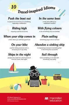 travel idioms infographic