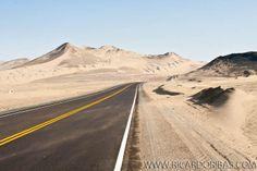 Panamerican Highway (Carretera Panamericana Norte). Casma, Department of Ancash, Peru.