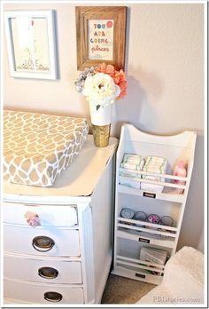 1000 nursery decorating ideas on pinterest nurseries - Small baby room storage ideas ...