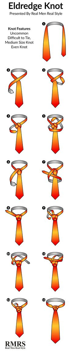 How To Tie A Tie | The Eldredge Knot Infographic #Ties