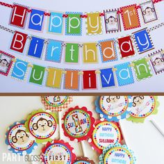Boy Our Little Monkey Birthday Party Decorations Package Fully Assembled