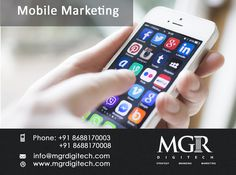 Mobile marketing gives the user far more advantages, such as lower cost, customization, easy tracking and so on, thereby reducing manpower and yet giving the entrepreneur better  business benefits and profits. MGR DIGITECH Provides Services for Mobile Marketing .  For Further details please contact us: Contact Details: Phone: +91 8688170003, +91 8688170008 Email-Id : info@mgrdigitech.com Website :www.mgrdigitech.com  #MGR, #MGRDigitech, #Digital, #OnlineSales, #DigitalSolutions,  #Mo