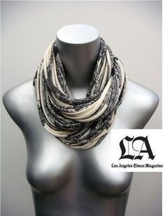 The original multistrand circle scarf. Cowl Infinity Scarf Necklace  Natural Organic w/ Dark by necklush, $62.00