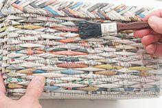 Caixa organizadora de jornal reciclado - Portal de Artesanato - O melhor site de artesanato com passo a passo gratuito