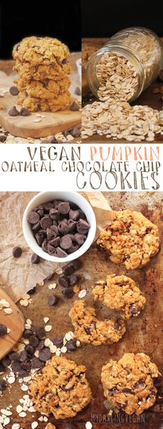 Celebrate the equinox with these vegan pumpkin oatmeal chocolate chip cookies. Click the photo for the full recipe.