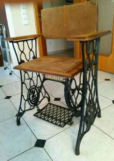 Stuhl Unikat Singer Design Chair