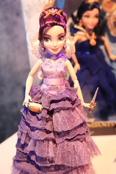 Mal in Her Coronation Dress Disney Descendants Doll by Hasbro, 2015 (I have her in the 2-pack with Ben from the Disney Store.)