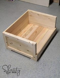 Wood Dog Bed DIY