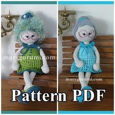 Pattern pattern tutorial crochet Bénédicte Doll Bun by Marygurumi