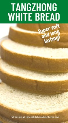 Using the tangzhong method, make incredibly soft and long lasting white bread easily in your kitchen. Easy bread recipe even for beginners. You will love the tender crumb of this sturdy white bread. Easy Bread Recipes, Roast Recipes, Chicken Recipes, Dinner Recipes, Soft White Bread Recipe, Zucchini Muffins, Banana Bread, Tasty, Lunch