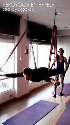 Aerial Yoga, aerial yoga for Couples. www.yogacreativo.com: AeroYoga® en Pareja: Conexion en Ingravidez!
