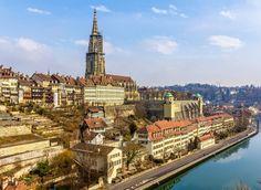 Bern Bern, Switzerland sky City landmark Town cityscape tourist attraction River bird's eye view skyline tower building metropolis