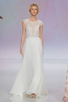 Wedding dress by Rembo Styling Spring 2017 Spring 2017 Wedding Dresses, Pretty Wedding Dresses, Wedding Dresses Photos, Spring Dresses, Day Dresses, Nice Dresses, Rembo Styling, Lausanne, Bridal Fashion Week