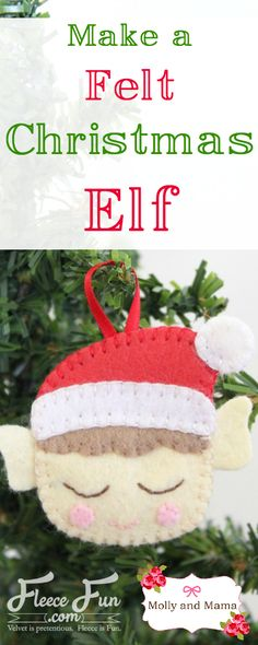 Hand stitch this cute little felt elf with this easy free tutorial brought to you by Molly and Mama. This DIY Christmas craft is perfect for handmade gift giving this holiday season.