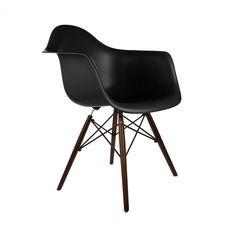 Walnut Montmartre Arm Chair in Black   dotandbo.com
