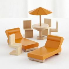 Modern Dollhouse Outdoor Set  | The Land of Nod