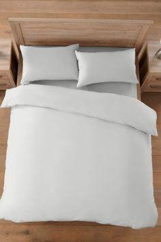 Buy Silver Cotton Rich Plain Dye Bed Set from the Next UK online shop