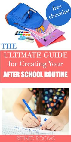 The Ultimate Guide for Creating Your After School Routine - An after-school routine is so important for setting the family up for success during the school yea - After School Checklist, After School Routine, School Routines, New School Year, First Day Of School, Back To School Hacks, School Stuff, School Ideas, High School