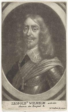 Wallerant Vaillant | Portret van Leopold Willem van Oostenrijk, Wallerant Vaillant, 1658 - 1677 | Leopold Willem, aartshertog van Oostenrijk en landvoogd van de Zuidelijke Nederlanden.