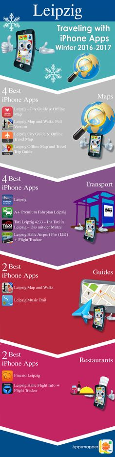 Leipzig iPhone apps: Travel Guides, Maps, Transportation, Biking, Museums, Parking, Sport and apps for Students.
