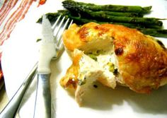 Recipe:  Roasted Chicken Breasts Stuffed with Goat Cheese and Fresh Garlic