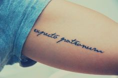"expecto patronum - ""joy & hope"" in Harry Potter (spell). #tattoo #tattoos #ink"