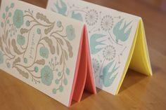 Letterpress Notebook Set illustrated by the talented Masako Kubo.