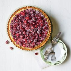Cranberry-Orange Tart with Browned Butter Crust | MyRecipes  For a pretty presentation, top the tart with sugared cranberries.